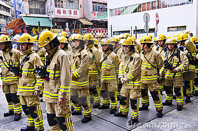 Hong Kong Firefighter Editorial Stock Image