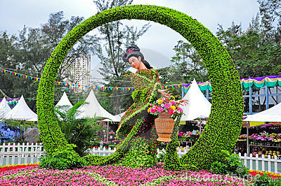 Hong kong flower show 2012 display Editorial Photography