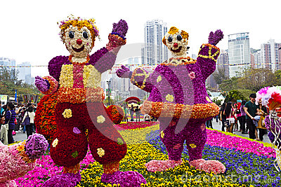 Hong Kong flower show 2013 Editorial Stock Image
