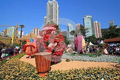 Hong Kong Flower Show 2012 Editorial Photo