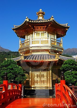 Hong Kong:  Golden Pavilion at Nan Lian Garden