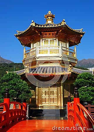 Hong Kong:  Golden Pavilion at Nan Lian Garden