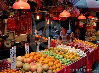 Hong Kong: Gressam Street Market Editorial Stock Photo