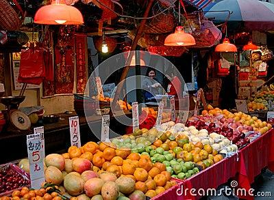 Hong Kong: Gressam Street Market Editorial Stock Photo
