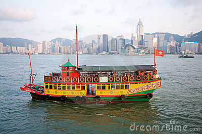 Hong Kong Harbor Editorial Image