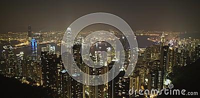 Hong Kong Harbor Night Scene