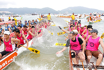 Hong Kong Int l Dragon Boat Championship 2012 Editorial Stock Image