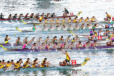 Hong Kong Int l Dragon Boat Races 2012 Editorial Image