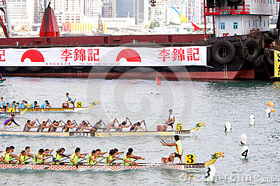 Hong Kong Int l Dragon Boat Races 2012 Editorial Stock Image