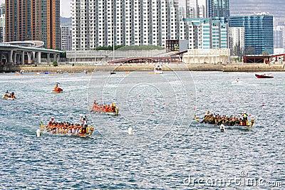 Hong Kong Int l Dragon Boat Races 2012 Editorial Photography