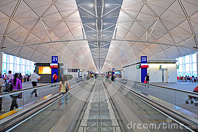 Hong kong international airport Editorial Stock Image