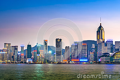 Hong Kong Island Editorial Image