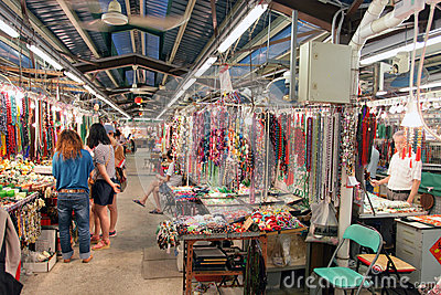 Hong Kong : Jade Market Editorial Photography