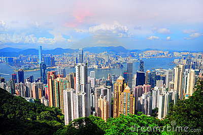 Hong kong and Kowloon Editorial Stock Image