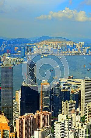 Hong kong and Kowloon Editorial Stock Photo