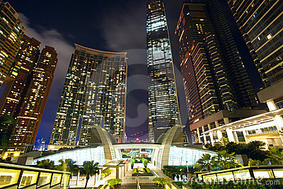 Hong Kong Kowloon skyscrapers