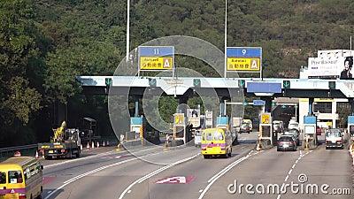 Hong Kong Kowloon TKO Wschodni tunel, opłaty drogowa stacja przy zwianie cyną w Hong Kong zbiory