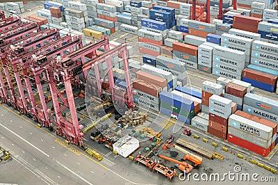 Hong Kong Kwai Chung Container Terminal Editorial Image