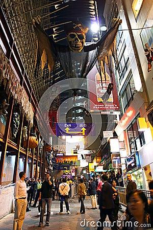 Hong Kong : Lan Kwai Fong Editorial Image