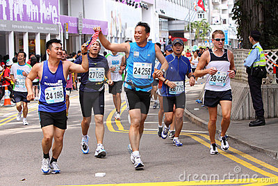 Hong Kong Marathon 2009 Editorial Image