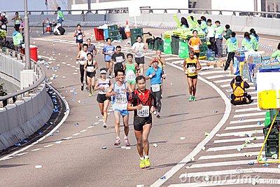 Hong Kong Marathon 2012 Editorial Photo