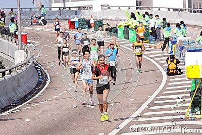 Hong Kong Marathon 2012 Editorial Photo
