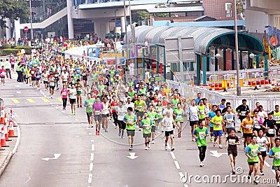 Hong Kong Marathon 2012 Editorial Image