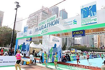 Hong Kong Marathon 2012 Editorial Stock Photo