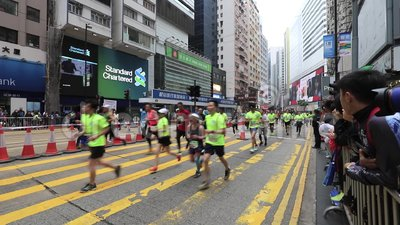 Hong Kong Marathon 2018 stock footage