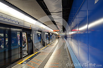 Hong Kong Metro station Editorial Stock Image