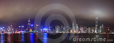 Hong Kong at night, Panorama
