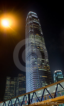 Hong Kong night  skyscraper ifc