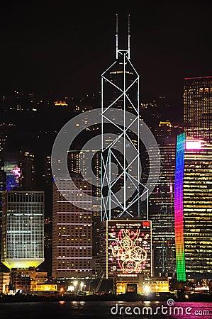 Free Hong Kong Night View Royalty Free Stock Image - 13376756