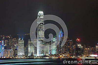 Hong Kong Night view Editorial Stock Photo