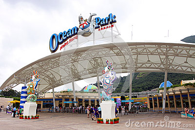 Hong Kong : Ocean Park Editorial Stock Image