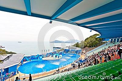 Hong Kong Ocean Park Ocean Theatre Editorial Photo