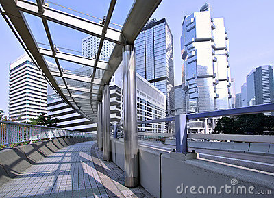 Hong Kong pedestrian walkway