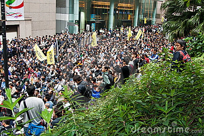 Hong Kong Protest against Budget Plan on 06 March Editorial Stock Photo