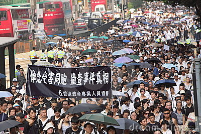 Hong Kong Protest Over Manila Hostage Deaths Editorial Stock Image