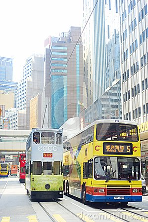 Hong Kong public transport Editorial Photo