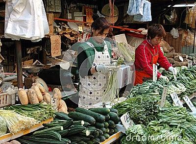 Hong Kong: Reclamation Street Market Editorial Image
