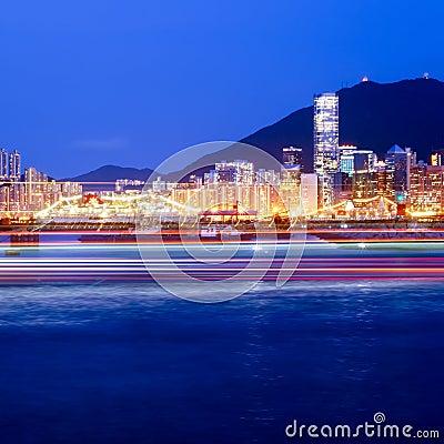 Hong Kong s Victoria Harbour at night