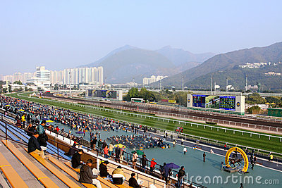Hong Kong : Sha Tin Racecourse Editorial Photography