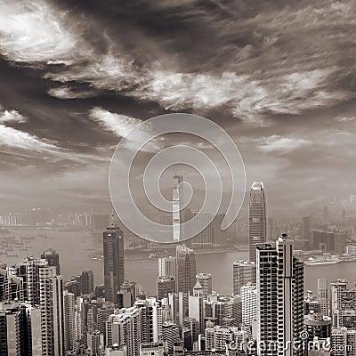 Free Hong Kong Skyline Royalty Free Stock Photos - 12241288