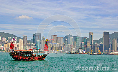 Hong Kong skyline Editorial Stock Photo