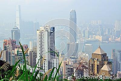 Hong Kong skyline Editorial Stock Image