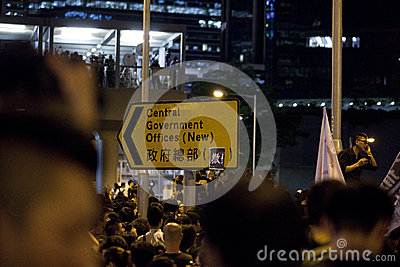 Hong Kong Student Protest 9/7/12 Editorial Stock Image