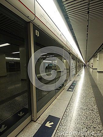 Hong Kong Subway (MTR) Editorial Photography