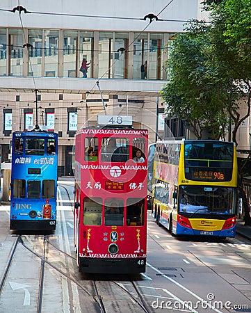 Free Hong Kong Tram Stock Photo - 100505930