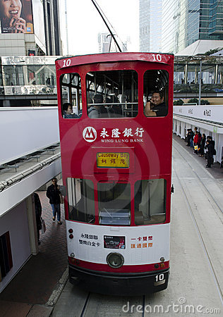 Hong Kong Tram Editorial Photography